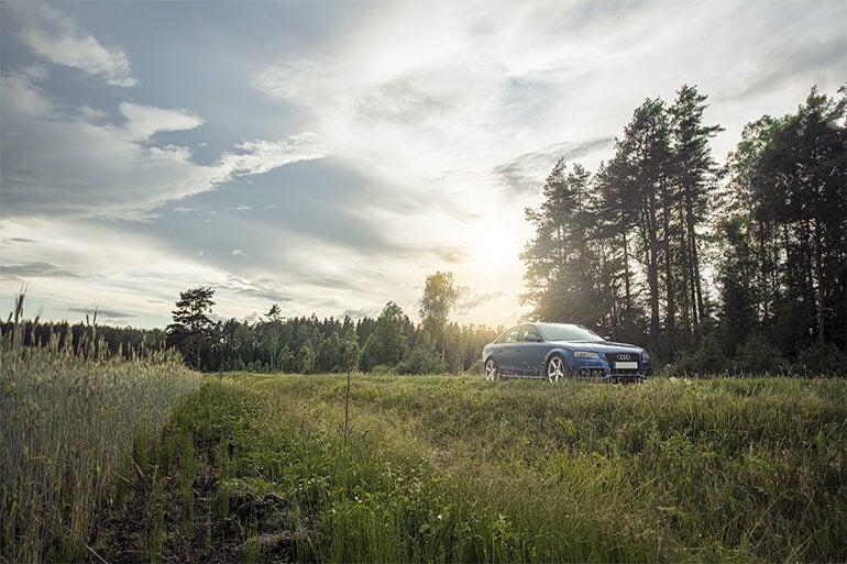 blue car repair and maintenance