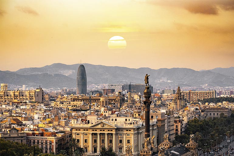 Things to do in barcelona with kids city view