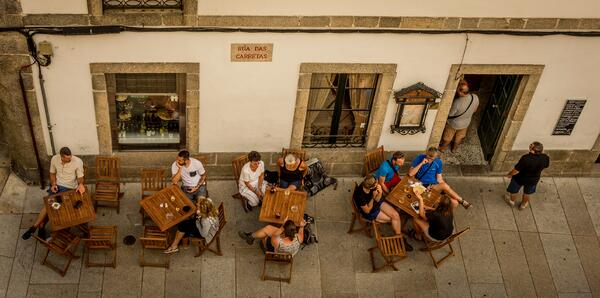 the weather forecast in spain is always sunny which means you can eat outside a lot