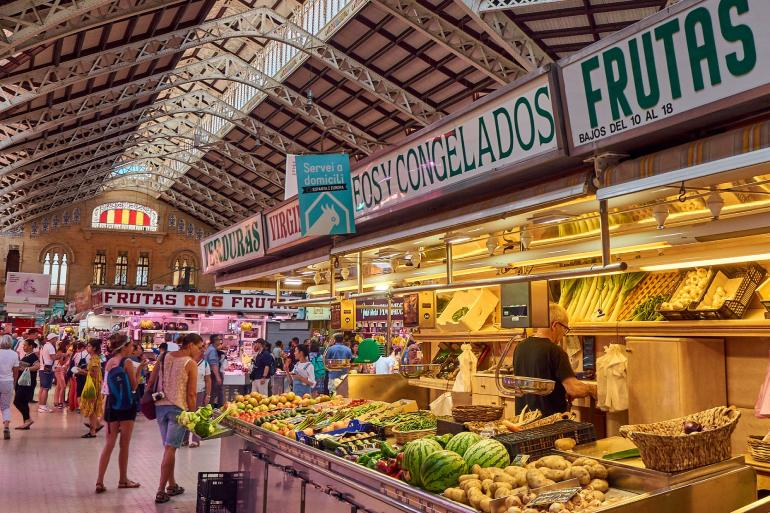 moving to valencia, spain also offers great food markets