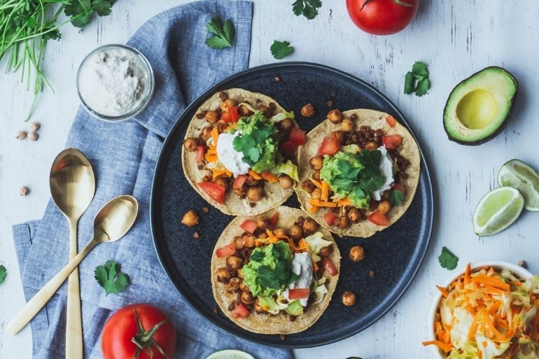 Vegetarian myths vegetable tacos