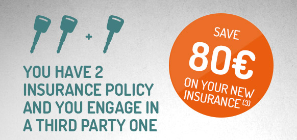 Save €80 on your new insurance