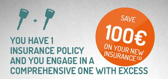 Save €100 on your new insurance