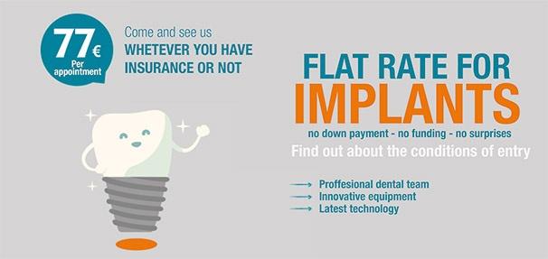 Implants flat rate