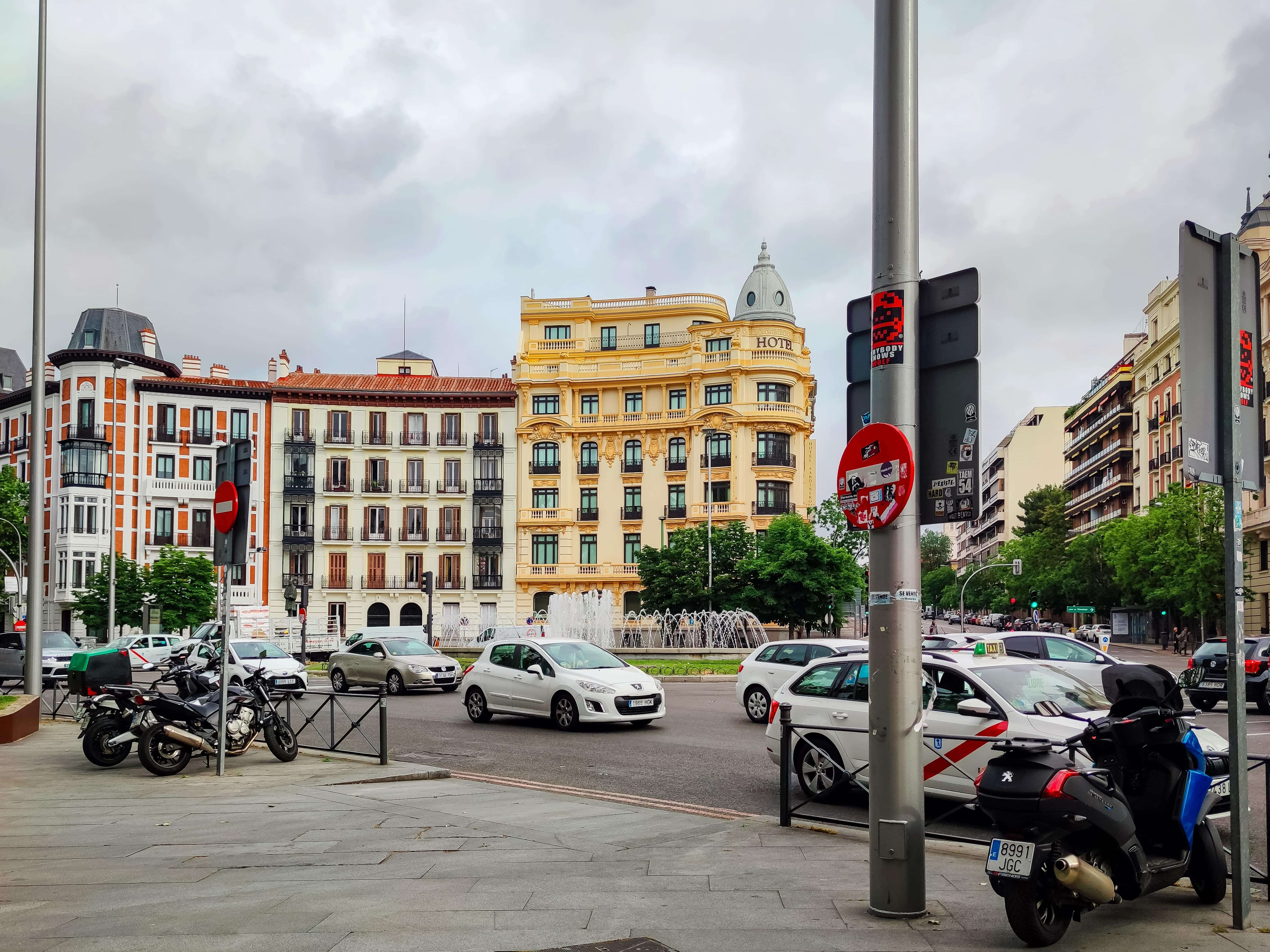 pedestrian zones in madrid 360