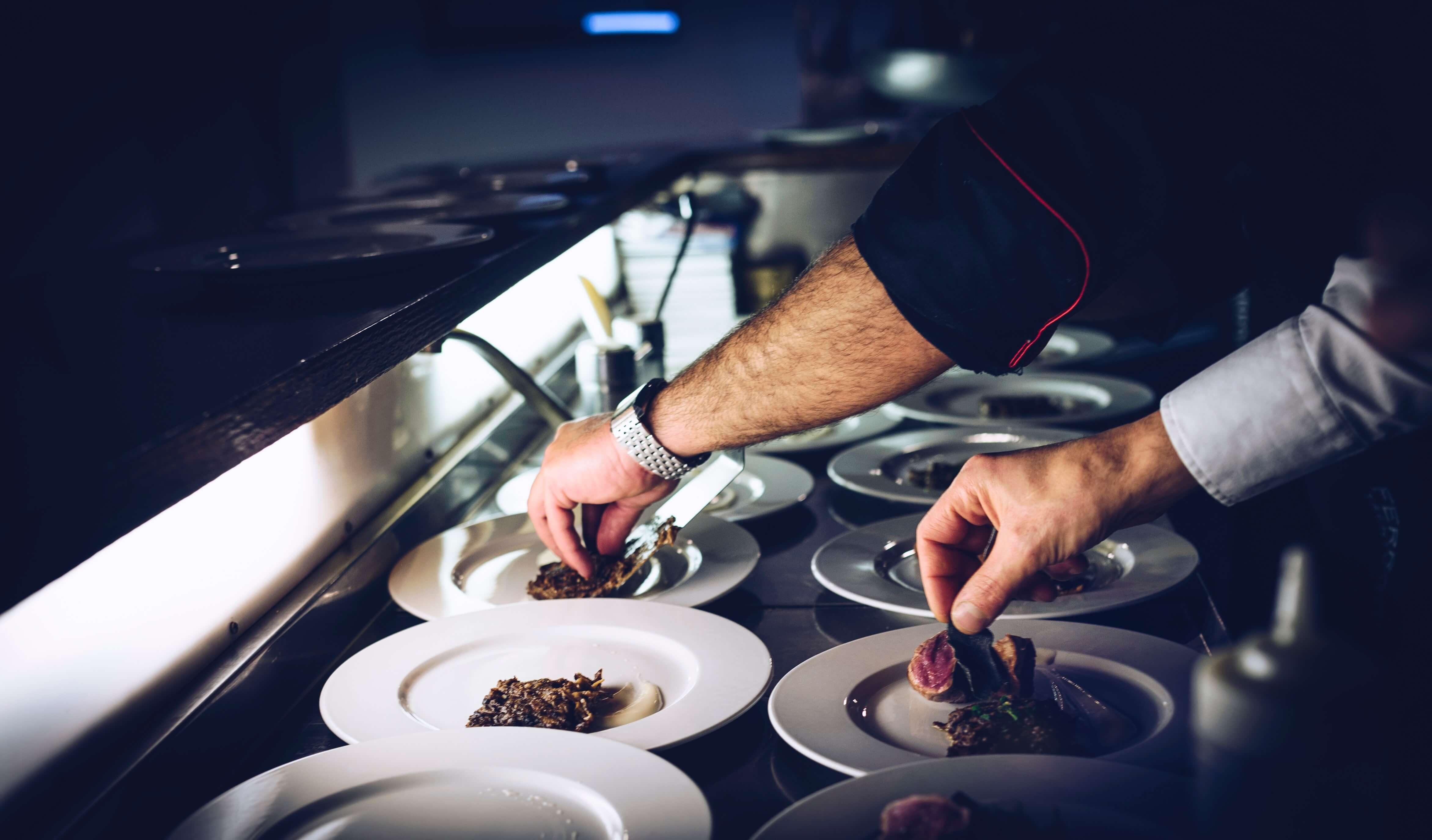 preparing michelin star restaurant meals in spain