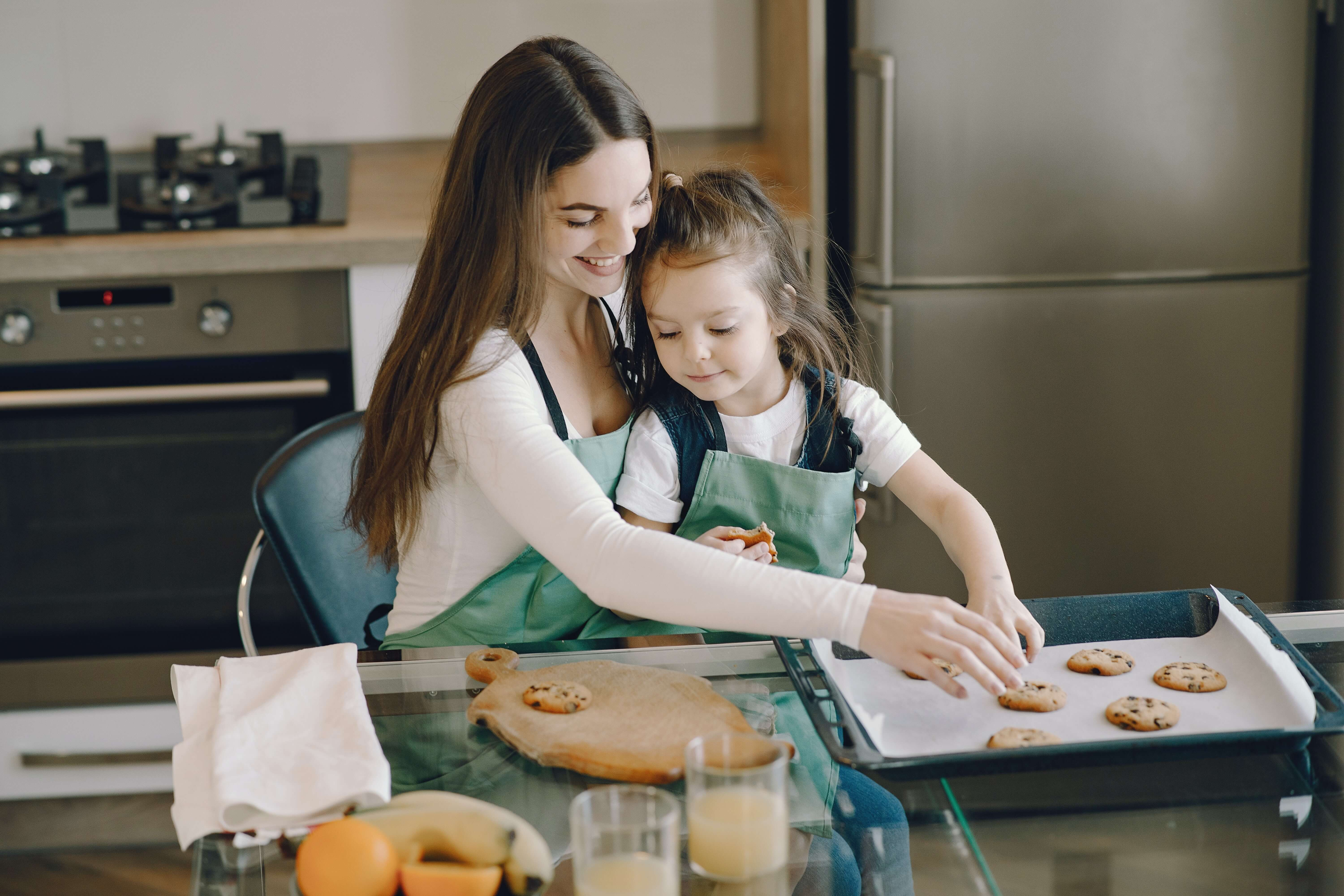 cooking together on Mother's Day in Spain