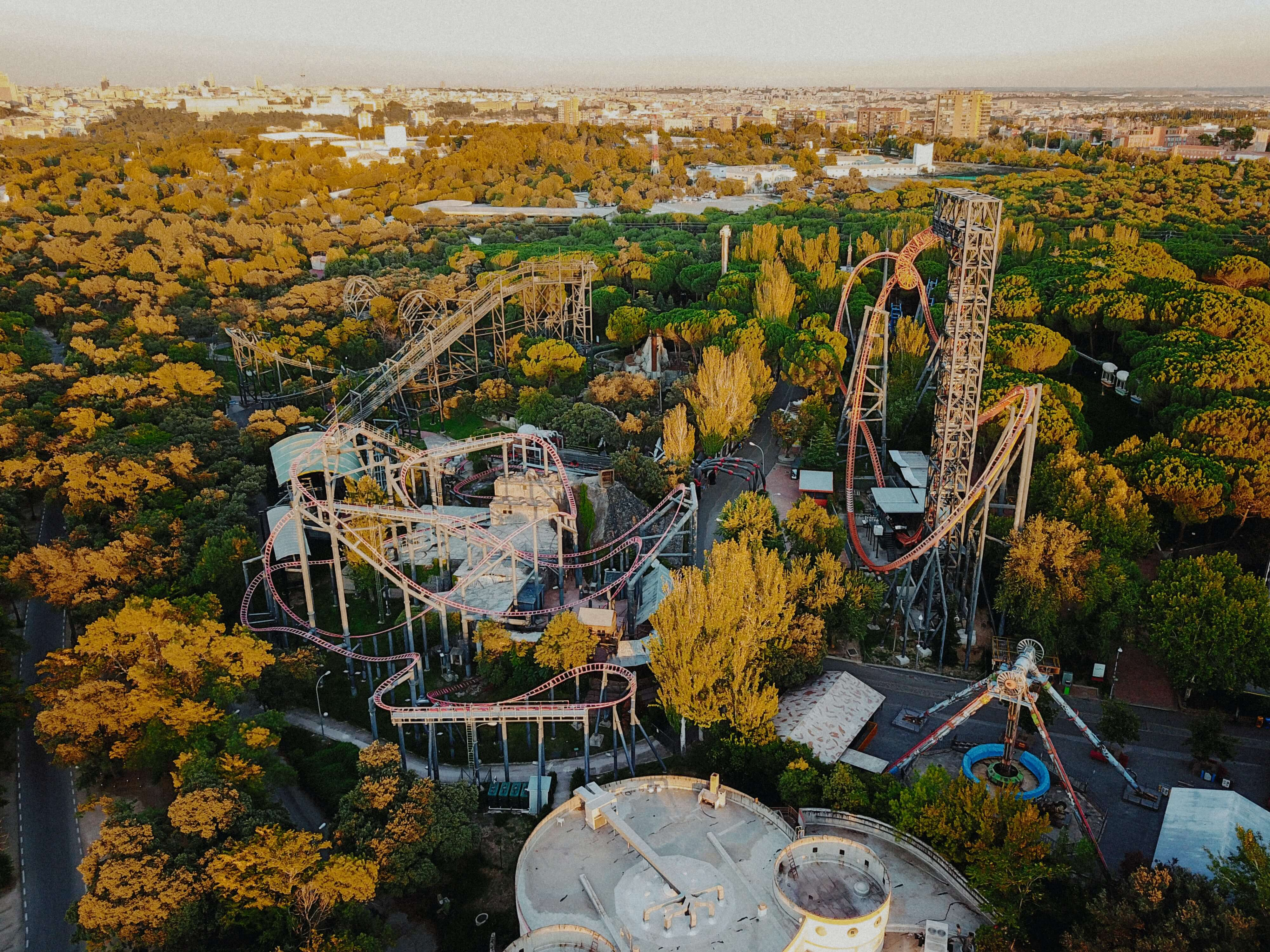 Parque Warner amusement park is one of the best places to visit in spain with kids